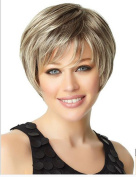 SmartFactory Natural Blonde Short Bob Human Hair Wig Europe Style for Black Women
