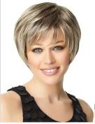 SmartFactory Natural Blonde Short Bob Human Hair Wig Europe Style for Black Women