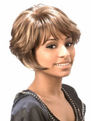 SmartFactory Women Short Brown Natural Blonde Human Hair Wigs for Usual Life