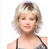 SmartFactory Short Blonde Kindly Fluffy Wavy Curly Wig for Girls