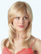 SmartFactory Middle Blonde Full Natural Straight Synthetic Softness Human Hair Wig For Girls
