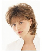 SmartFactory Short Blonde European Natural Curly Hair Wig for Women or Students
