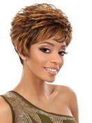 SmartFactory Short Bob Curly European Human Hair Wig for Women Life and Work