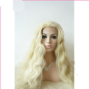 Heat Resistant Synthetic Long Blonde Wavy Lace Front costume wigs for For Black Women