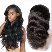 Full Lace Human Hair Wigs Grade 5A Brazilian Human Hair Glueless Lace Front Wigs for Black Women 130 Density