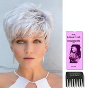 Emerson by Noriko Wigs, Wig Galaxy Hair Loss Booklet & Wide Tooth Comb (Bundle - 3 Items)