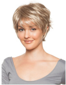 SmartFactory Natural Short Golden Synthetic Human Hair Wig for Black Women
