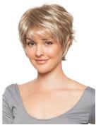 SmartFactory Natural Short Golden Synthetic Human Hair Wig for Black Women