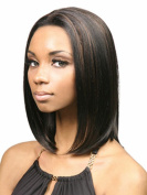 SmartFactory Natural Middle Bobo Black Straight Fibre Cosplay Wig for Lady or Women