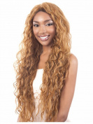 SmartFactory Long Natural Golden Kindly Curly Synthetic Hair Wig For Girls