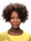SmartFactory Short Wavy Kindly Curly Synthetic Human Hair Wig For Women
