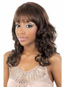SmartFactory Medium Long Natural Big Wavy Fluffy Curly Human Hair Wig for Girls