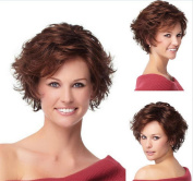 MXXYY Women 's Fashion Short Curly Hair Wig AD Material Chemical Fibre Headgear