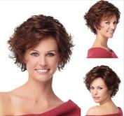 MXXYY Women 's Fashion Short Curly Hair Wig AD Material Chemical Fibre Headgear