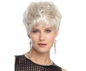 MXXYY Womes Fashion Silver Short Curly Wig Card Silk Fibre Hair Sets
