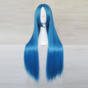 The Cavalry November Blue Long Straight Universal 80cm Cosplay Party Wig