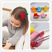 Beautiful Wool Hat Design Women Girl Winter Hairpins/Hair Clips Claw Accessories