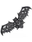 Silver Lace Vampire Bat Barette Hair Clips Occult