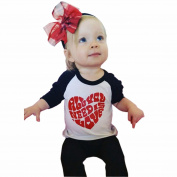 Efaster Kid Baby Long Sleeve Love Heart Pattern Letter Printing Top Shirt Blouse