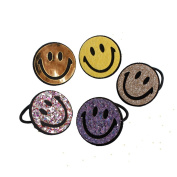 5Pcs Different Colour Emoji Hair Rope Set Emoticon Hair Rope Party accessory
