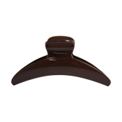 Solid Salon Clip Ladies Jaw Clip - Brown