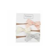 Lauren Bow Nylon Headband Set - Blush