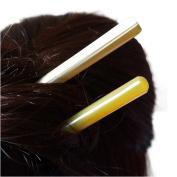 Vintage Women Girl Retro Natual Yak Horn Hair Stick Hairpin Creative Hair Pin Accessories Chignon Bun Updo Pins Chinese