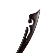 Retro Hair Stick Ebony Black Wood Hairpin Sprout Bun Chignon Pin Handmade Carved Flower Bun Updo Elegant Women