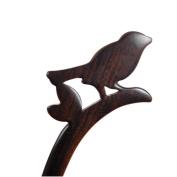 Vintage Ebony Black Wood Bird Hair Stick Creative Chignon Pin Bun Women Retro Hair Accessories Updo Cos Clip