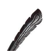 Vintage Ebony Black Wood Handmade Carved Phenix Feather Hair Stick Hairpin Chignon Pin Peacock Tail Bun Upto Beauty Tool