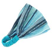 Bright Elastic Band Lightweight Blue 'Festival Headband Blue'