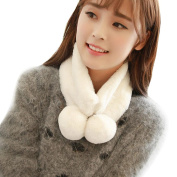 Datework Women Winter Warm Plush Stole Cape Wrap Scarf