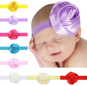 PETMALL 8pcs Kids Baby Hair Decor Flowers Headband Toddler Girl Hairbands Hair Band Headdress E054