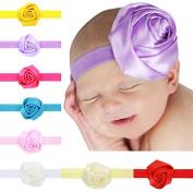 PETMALL 8pcs Kids Baby Hair Decor Flowers Headband Toddler Girl Hairbands Hair Band Headdress E054