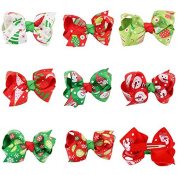 PETMALL 8pcs Baby Girls Christmas style Hair Clip Hairpin Headwear Kids Hair Accessories E052