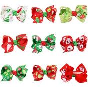 PETMALL 8pcs Baby Girls Christmas style Hair Clip Hairpin Headwear Kids Hair Accessories E052