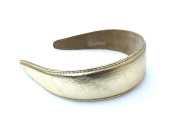 Wardani, 3.8cm Metallic gold genuine leather headband handmade in USA