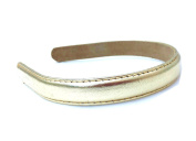 Wardani 1.9cm Metallic genuine Leather Headband handmade in USA