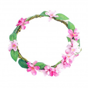 Merroyal Fashion Bohemian Flower Crown Floral Garland Headbands for Wedding Festivals