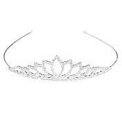 Mintbon Wedding Women Girls Rhinestone Headband Head Crown Queen Princess Jewellery