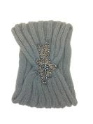 Embellished Knit Turban Headband