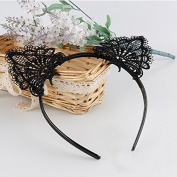 Fashionable Lovely Lace Cat Ears Headband Hairband Attractive Hair Accessories Cosplay Party