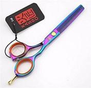 Etino KASHO Professional Barber Hair Cutting Scissors Shears (Teeth Thinning Scissors) (colourful