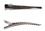 50 Pcs 6cm Silver Metal Crocodile Alligator Teeth Prongs Hair Clips Hair Pins Hairpin Hair Clip Prong Bows