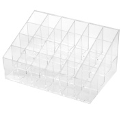 Wowlife Acrylic Trapezoid Clear Cosmetic Stand 24 Lipstick Organiser Nail Polish Makeup Case Display Rack Holder