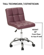 Esthetician Technician Stool TOTO BURGUNDY Chair for Spa Salon Office