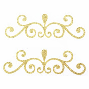 Ejiubas Glorious Golden Girl Hair Stickers Hair Accessories 1 Pcs for ladies,Maple,Flower,Leaves,ect