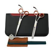 YUNAI Professionl Hair Cutting Scissors Kit Teeth Thinning Scissors & Regular Shears 14cm