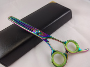 15cm Professional Hairdressing Hair Thinning Barber Razor Edge Multi Titanium Scissors +Case