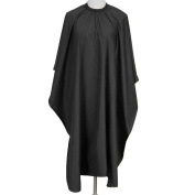 Yoption Hair Cutting Barbers Gown Salon Cape Hairdressing Retro Black